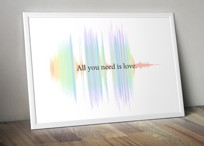 rainbow sound wave art