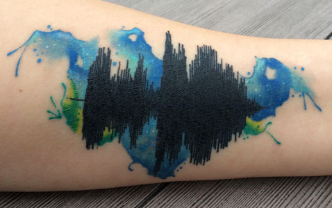 sound wave tattoo